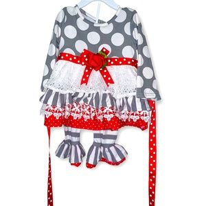 Counting daises baby girl 12 months boutique 2 pc